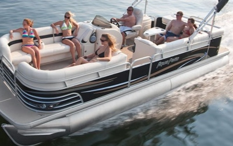 Upper Lake Boat Rental - Electric Pontoon Boat