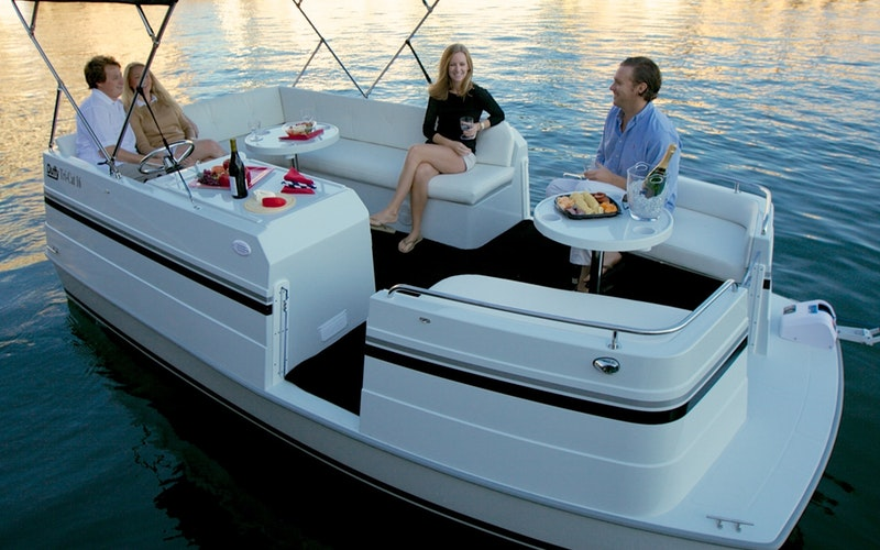 Upper Lake Boat Rental - Cat 16 Electric Yacht