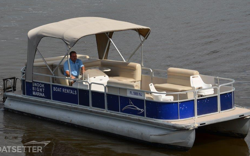 Fort Myers Beach Boat Rental - 25ft Premier Pontoon