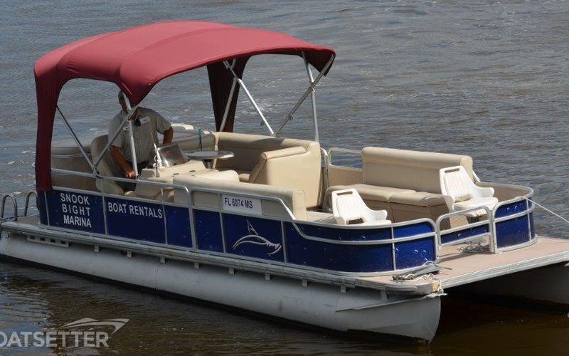 Fort Myers Beach Boat Rental - 24ft Leisure Pontoon