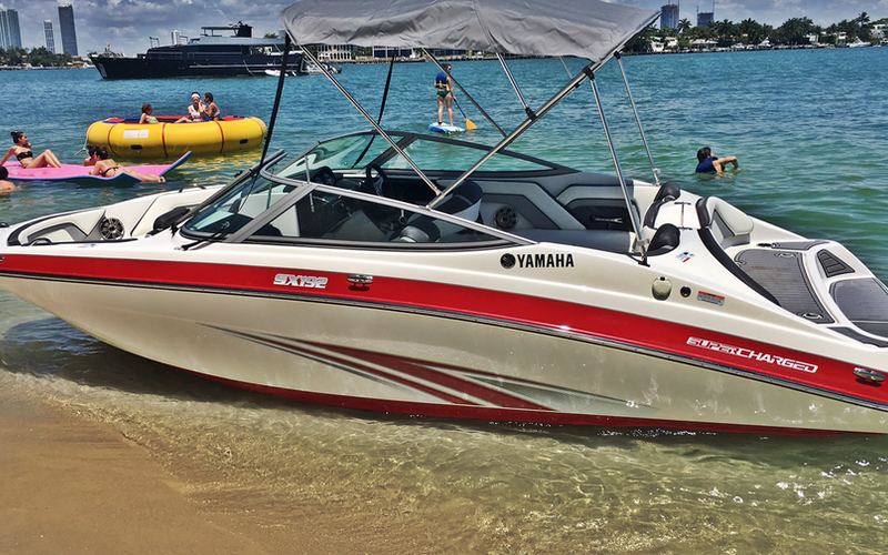 Exotic Supercharged Yamaha JetBoat in Miami Beach