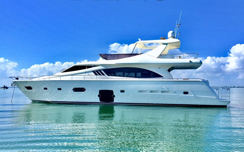 Miami Beach Boat Rental - Yacht Party - 76' Ferretti -- MAVERICK