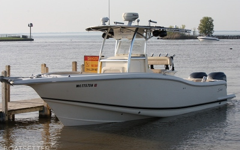 Harrison charter Township Boat Rental - Scout with twin 225HP 4-Stroke